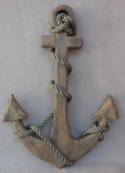 Wood and Rope Anchor