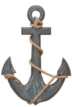 Wooden Anchor with Rope
