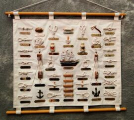 Decorative Wall Knot Chart Scroll
