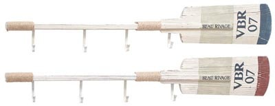 Assorted Wood Wall Oars with Hooks