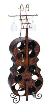 Cello Shaped Wine Rack