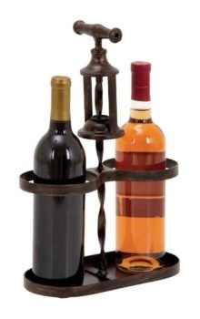 Double Wine Bottle Corkscrew Stand