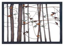 Birds in Trees Metal Wall Art