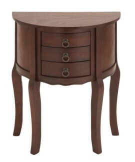 Wooden Rounded Accent Table