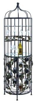 Metal Leaf Wine Cabinet