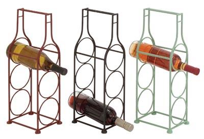 Assorted bottle shaped wine rack globe imports - Wine rack shaped like wine bottle ...