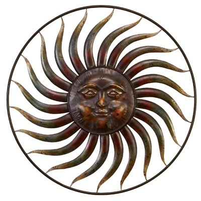 Metal Wall Sun Ring