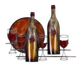 Metal Wall Wine Decor