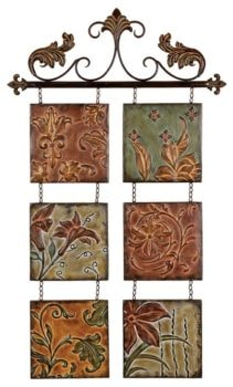 Metal Foliage Wall Hanging