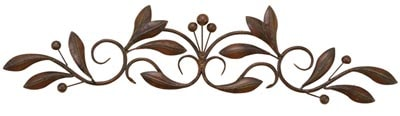 Metal Wall Olive Branch Scroll