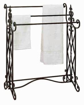 Metal Towel or Quilt Rack