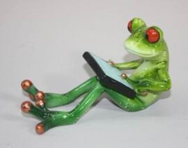 Seated Frog Figurine with Tablet