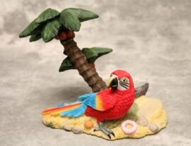 Parrot and Palm Tree Bottle Holder