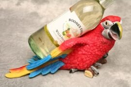 Decorative Parrot and Bottle Holder