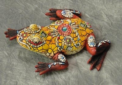 Decorated Mosaic Yellow Frog