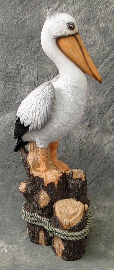 Pelican on Piling Figurine