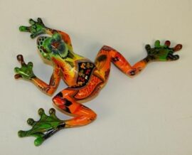 Wall or Table Top Patterned Colorful Frog