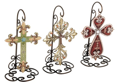 Assorted Wall Cross on Stand