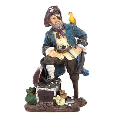Pirate Captain Figurine Globe Imports