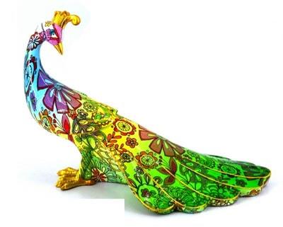 Patterned Peacock FIGURINE