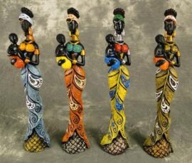 Assorted African Lady Figurine