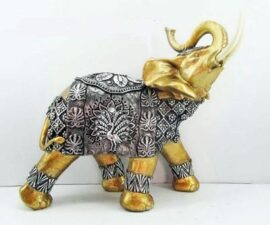 Gold and Silver Elephant Figurine