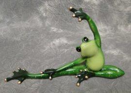 Green Stretching Yoga Frog
