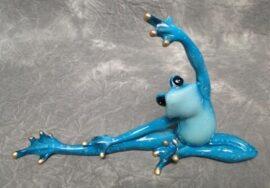Turquoise Yoga Stretching Frog