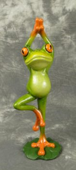 Frog in Tree Pose Yoga Position