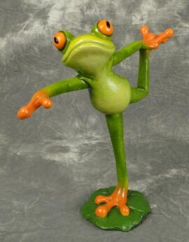 Frog in Lord of the Dance Yoga Position