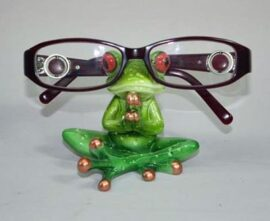 Meditating Frog Eyeglass Holder