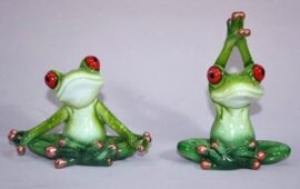 Assorted Yoga Frog Figurine