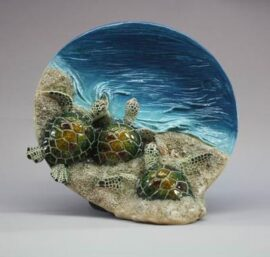 Decorative Plate with Baby Sea Turtles