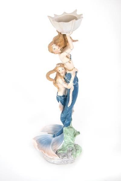 Two Mermaids Candleholder FIGURINE