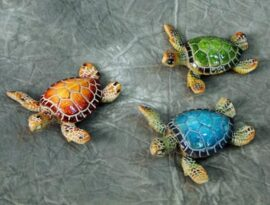 Assorted Polystone Turtle Magnet