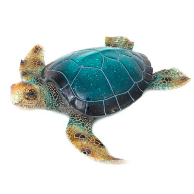 Blue Polystone Turtle Figurine Globe Imports