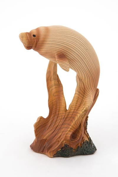 Wood Look Manatee FIGURINE