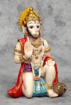 Kneeling Hanuman Figurine