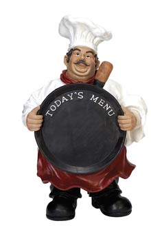 Chef With Frying Pan Globe Imports