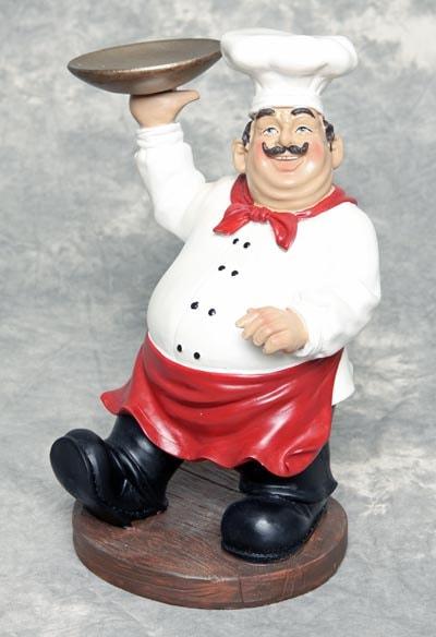 Chef With Tray Globe Imports