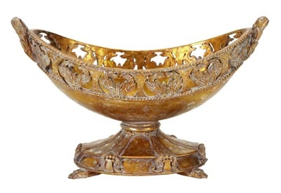 ornate bowl on base globe imports