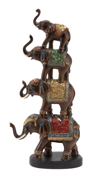 Decorated Stacked Elephants