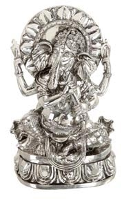 Silver Colored Ganesh