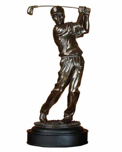 Bronze-Colored Golfer FIGURINE