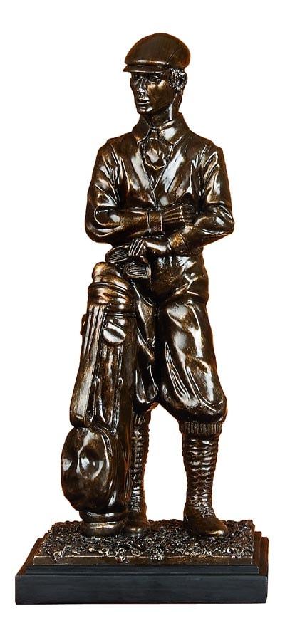Bronze Colored Golfer Statue