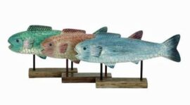 Assorted Decorative Fish on Stand