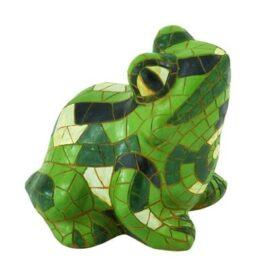 Green Mosaic Garden Frog