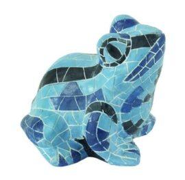 Blue Mosaic Garden Frog