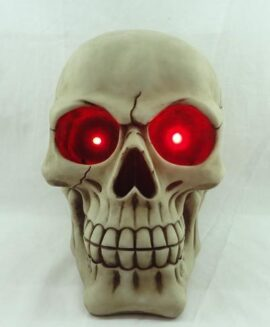 Skull with Red LED Eyes