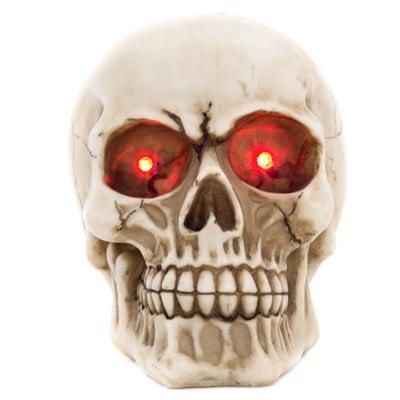 Skull With Red Led Eyes Globe Imports